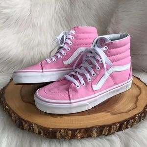 Vans high top pink sneakers LIKE NEW